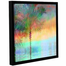 Palmae Reflections Square Framed Painting Print