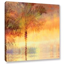 Palmae Reflections Gold Painting Print on Wrapped Canvas