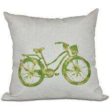 Golden Beach Life Cycle Geometric Outdoor Throw Pillow