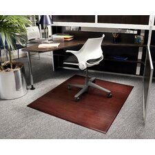 Beveled Bamboo Office Chairmat