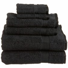 600GSM Premium Combed Cotton  6 Piece Towel Set