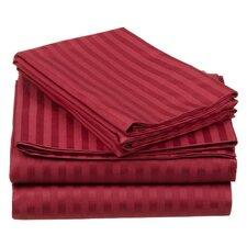 Superior 650 Thread Count Premium Long-Staple Combed Cotton Stripe Sheet Set