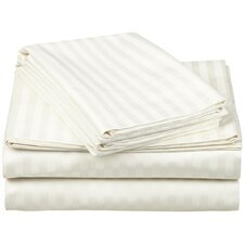 Superior 650 Thread Count Premium Long-Staple Combed Cotton Stripe Sheet Set