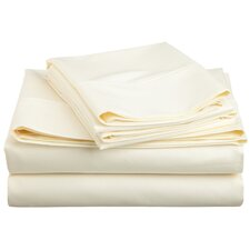 600 Thread Count Cotton Blend Solid  Sheet Set