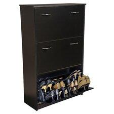 Triple 14-Pair Shoe Storage Cabinet