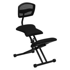 Ergonomic Kneeling Chair with Mesh Back and Fabric Seat
