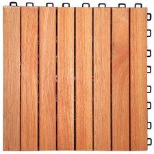 """Eucalyptus 12"""" x 12"""" Interlocking Deck Tile"""