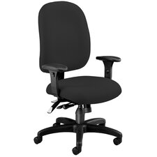 Ergonomic Upholstered Adjustable Seat Task Chair with Arms