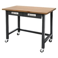Commercial Heavy-Duty Wood Top Workbench