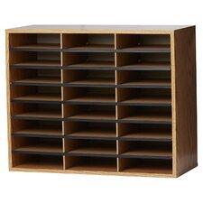 Wood/Corrugated Literature Organizer