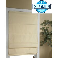 Cordless Thermal Backed Roman Shade with Blackout Fabric