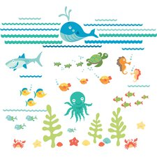 Caileigh Under The Sea Applique Wall Decal Kit