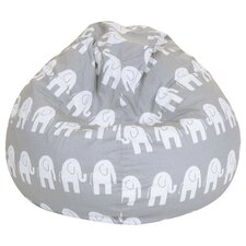 Olivia Elephant Print Bean Bag Chair