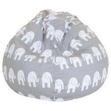 Olivia Elephant Print Bean Bag Chair