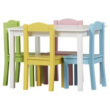 Samira Kids 5 Piece Table and Chair Set