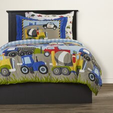 Kaylie 5 Piece Trans & Trucks Twin Bed Set