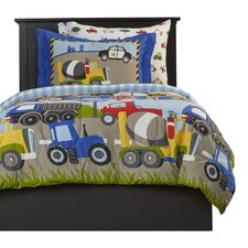 Kaylie 5 Piece Trans & Trucks Twin Bed Set