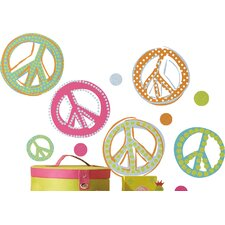 26 Piece Pandy Peace Signs Wall Decal Set