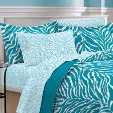 India 5 Piece Zebra Bed in a Bag Set