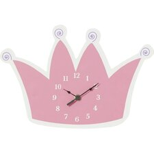 Princess Tiara Wall Clock