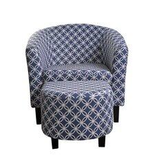 Paisley Club Chair and Ottoman