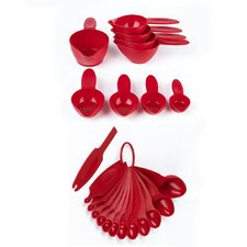 22 Piece Polypropylene Measuring Spoon and Cup Set