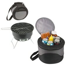 Portable Charcoal Grill with Cooler Storage Case