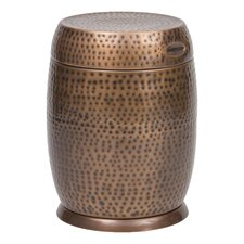 Madras Drum End Table