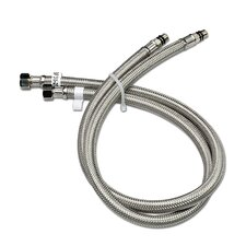 Vessel Sink Faucet Stainless Steel Flexible Water Supply Hose (Set of 2)