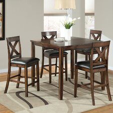 Greco 5 Piece Pub Table Set