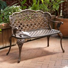 Madama Cast Aluminum Garden Bench