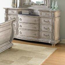 11 Drawer Dresser with Mirror