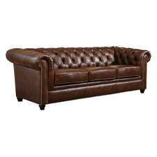 Curley Hand Rubbed Top Grain Leather Sofa
