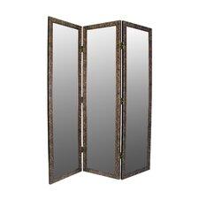 "Sigiriya 72"" x 60"" Mirrored 3 Panel Room Divider"