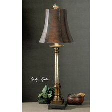"""Aldreth 33"""" H Table Lamp with Bell Shade"""