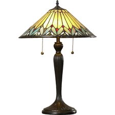 """Chillon 23"""" H Tiffany Style Table Lamp with Cone Shade"""