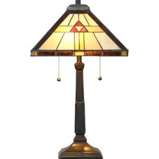 """Kastelholm 23"""" H Tiffany Style Table Lamp with Empire Shade"""