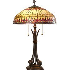 """Beverly 26.5"""" H Tiffany Style Table Lamp with Bowl Shade"""