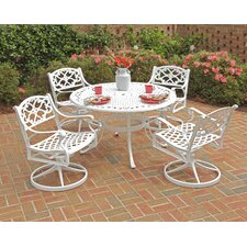 Van Glider 5 Piece Dining Set with Swivel Chairs
