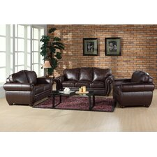 Nassau Leather Living Room Collection
