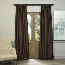 Sagunto Vintage Textured  Dupioni Single Curtain Panel