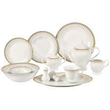 Stonekeep 57 Piece Porcelain Dinnerware Set
