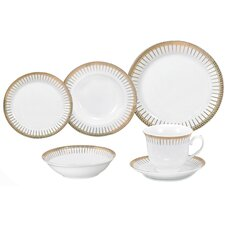 Comtal 24 Piece Porcelain Dinnerware Set
