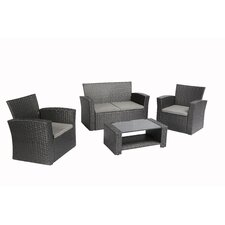 4 Piece Dining Set with Cushions