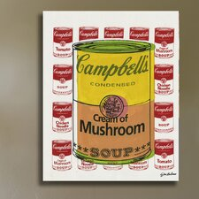 ''Campbell's Soup Cans'' by Steve Kaufman Vintage Advertisement on Wrapped Canvas