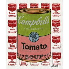 ''Campbell's Tomato Soup Cans'' by Steve Kaufman Vintage Advertisement on Wrapped Canvas
