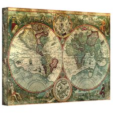 'Treasure Map' Framed Graphic Art on Wrapped Canvas