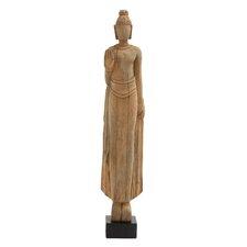 Wood Standing Buddha Statue