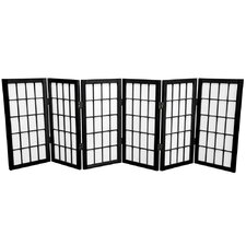 "Noan 26"" Window Tall Desktop Pane Shoji Room Divider"
