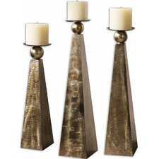 Zayan Metal Candlestick Holder (Set of 3)